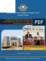 Traditional Structures in Peace and Security Consolidation - The Case of the House of Elders (Guurti) in 'Somaliland'