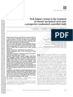 Neck Balance System in the Treatment of Chronic Mechanical Neck Pain