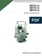 Manual Sokkia Set 4110