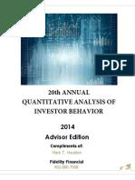2014 Quantitative Analysis of Investor Behavior