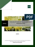 PsPersonalidad Guía 2ª 2015