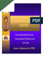 Determinacion de Costos Carlos Bellido
