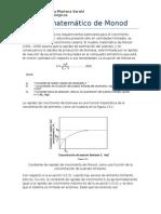 Modelo Matemático de Monod