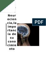 Ensayo Neurociencia Una Vision Mas Cercana