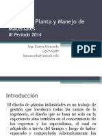 Diseno De Planta Introduccion y Analisis