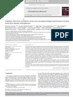 PDF Cognitive Reserve and Schizofrenia