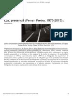 Luz, Presencia (Ferran Freixa, 1973-2013) « Edícticafoto