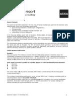 F3 exam report
