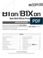 Zoom Pedal B1on B1Xon