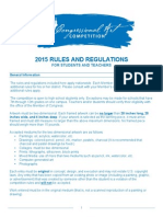 2015 Rules for Students and Teachers
