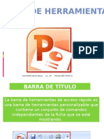 Barra de Herramientas de Power Point.