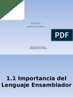 1.1 Importancia Del Lenguaje Ensamblador Lenguajes de interfaz 6 semestre