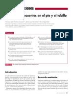 Patologías Frecuentes en El Pie y El Tobillo