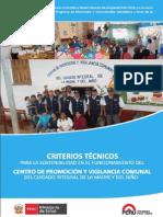 Criterios Tecnicos Minsa-Cpvc PI 2014