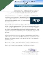 Message de Sympathies de La CEH Suite à La Tragédie Du 17 Février 2015