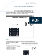 Aplicación Conversor de Temperatura Fahrenheit a Celsius
