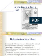 Behaviorist Theory Presentation