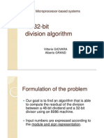 [slides] Microprocessor-Based Systems - 48/32-bit division algorithm