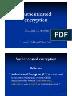[slides] Authenticated Encryption GCM - CCM