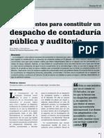 Constitución de Un Despacho de Auditoria