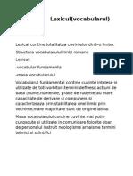 Lexicul