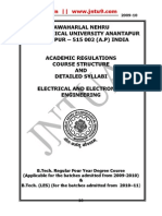 B.tech . R09 EEE Academic Regulations Syllabus