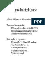 Organic Practicals NMR Data