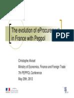 The Evolution of EProcurement in France With Peppol - Christophe Alviset