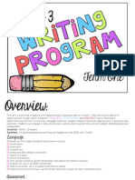 stage 3 term 1 writing weeks 3-5