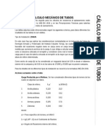 Cálculo Mecánico de Tubería Hormigón
