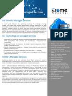 Krome Technology - DBA Practice Brochure