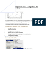 Design and Analysis of Truss Using Staad Pro