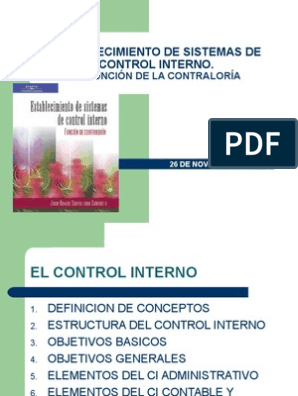 Establecimiento De Sistemas De Control Interno 1
