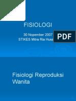 Fisiologi Sistem Reproduksi