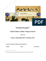 Technical Paper United Nations Climate Change Sessions - Geneva 8-13 February 2015