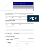 Beneficiary Application Form 2015