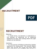 Hr Presentation Recruitment