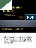 Job Evaluation Methods Pankaj