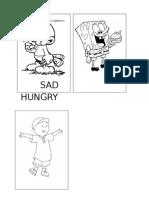 Happy, Sad, Hungry- flashcards