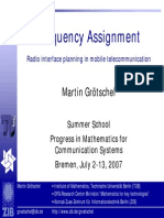 Frequency Assignment and Mathematics for Comm Systems