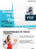 Readymade Mtech Thesis