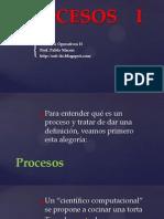 Procesos y Planificación - Sistemas Operativos