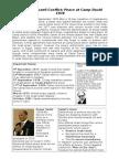 Camp David Summary Sheet