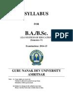 BA BSC Semester V