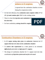 Combustion Chambers in CI Engines