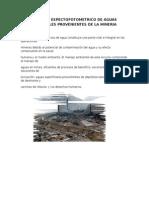 Analisis Espectofotometrico de Aguas Residuales Provenientes de La Mineria