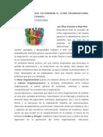 Los 9 Factores Que Determinan El Clima Organizacional Según Litwin y