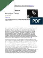 Adorno i Mimesis
