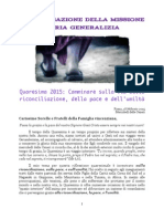 [ITA] Superiore Generale – Lettera di Quaresima 2015