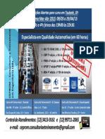 Curso de Especialista em Qual Automotiva - Mar-Abr 2015